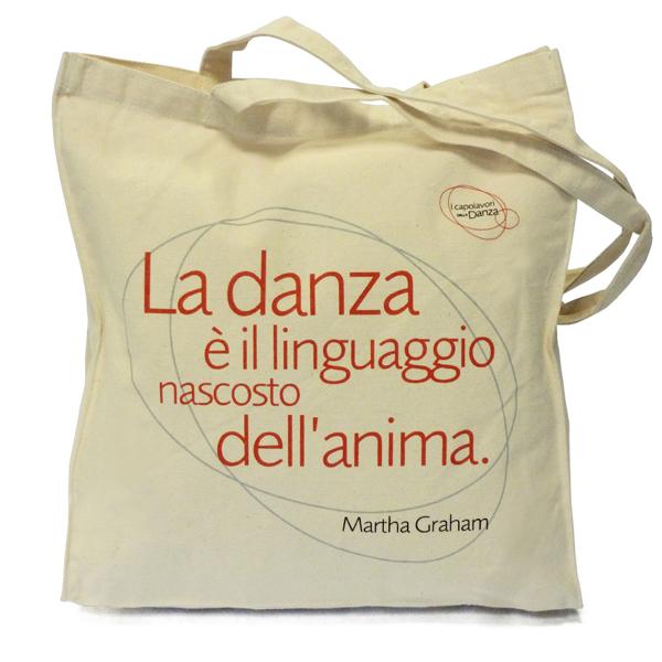 """Shopping bag in cotone """"I capolavori della danza"""""""