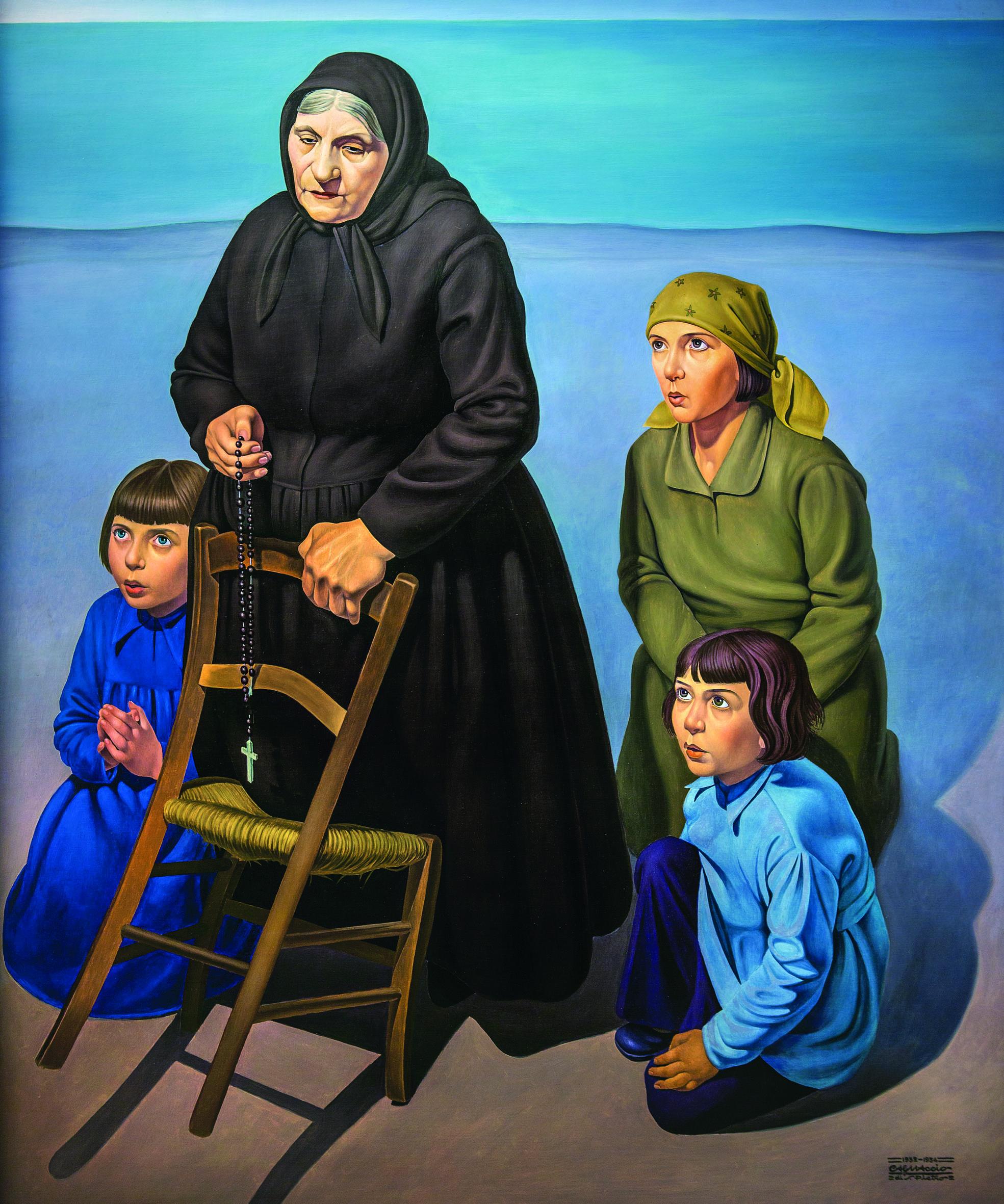 CagnaccioDiSanPietro_FamigliaSullaSpiaggia_1932