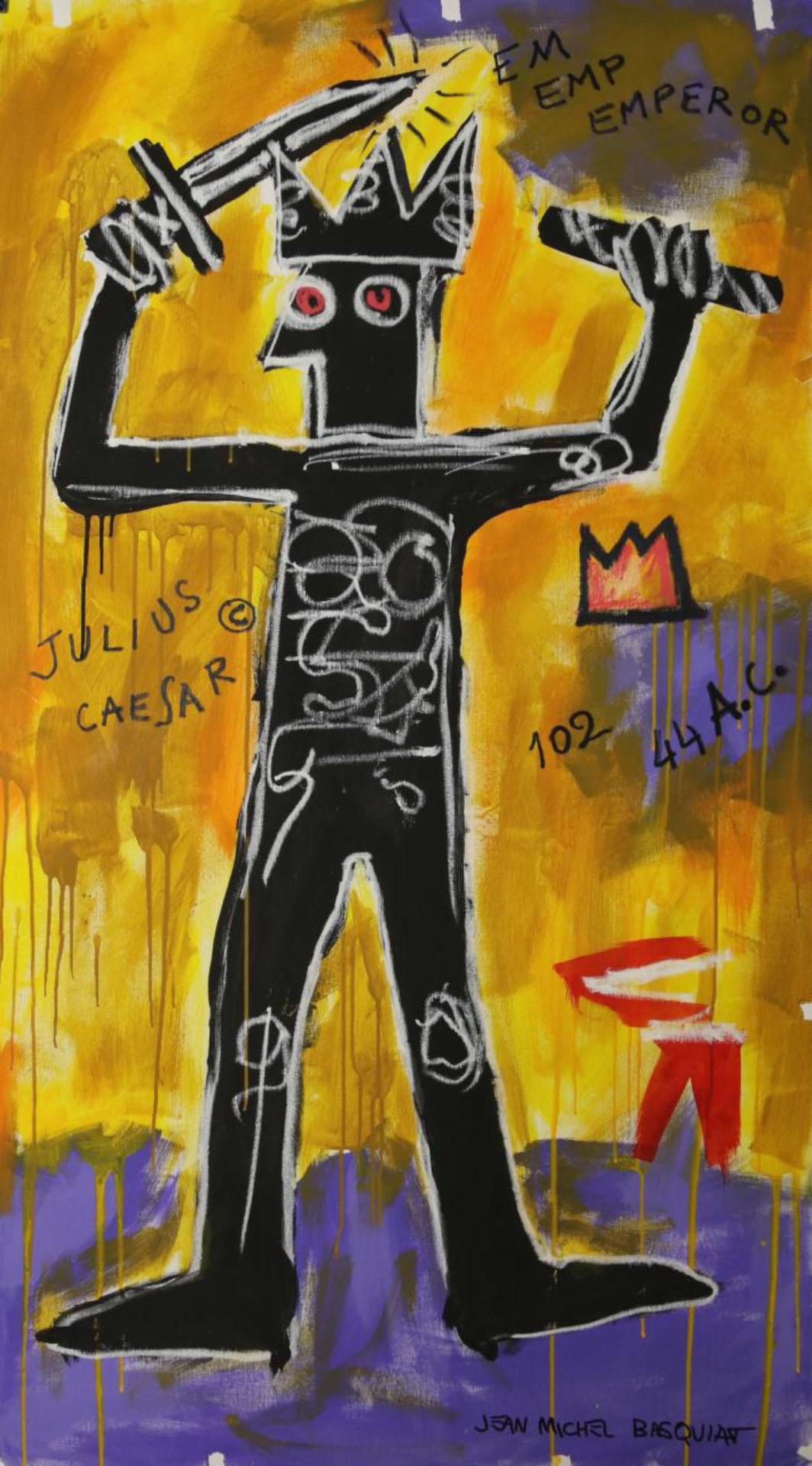 JEAN MICHAEL BASQUIAT_Julius Caesar,150x80cm