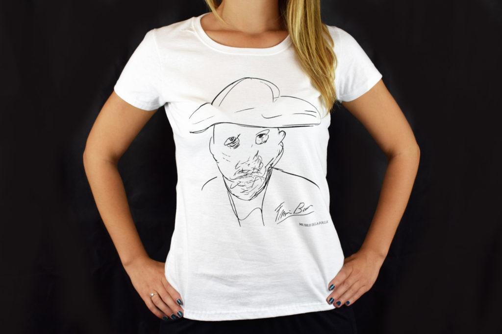 T-shirt personalizzata con opera di Francis Bacon per il Museo della Follia