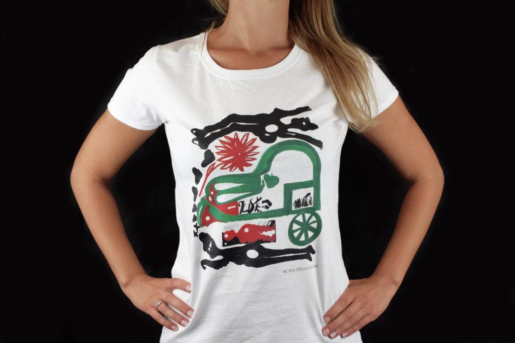 T-shirt per il bookshop del Museo della Follia