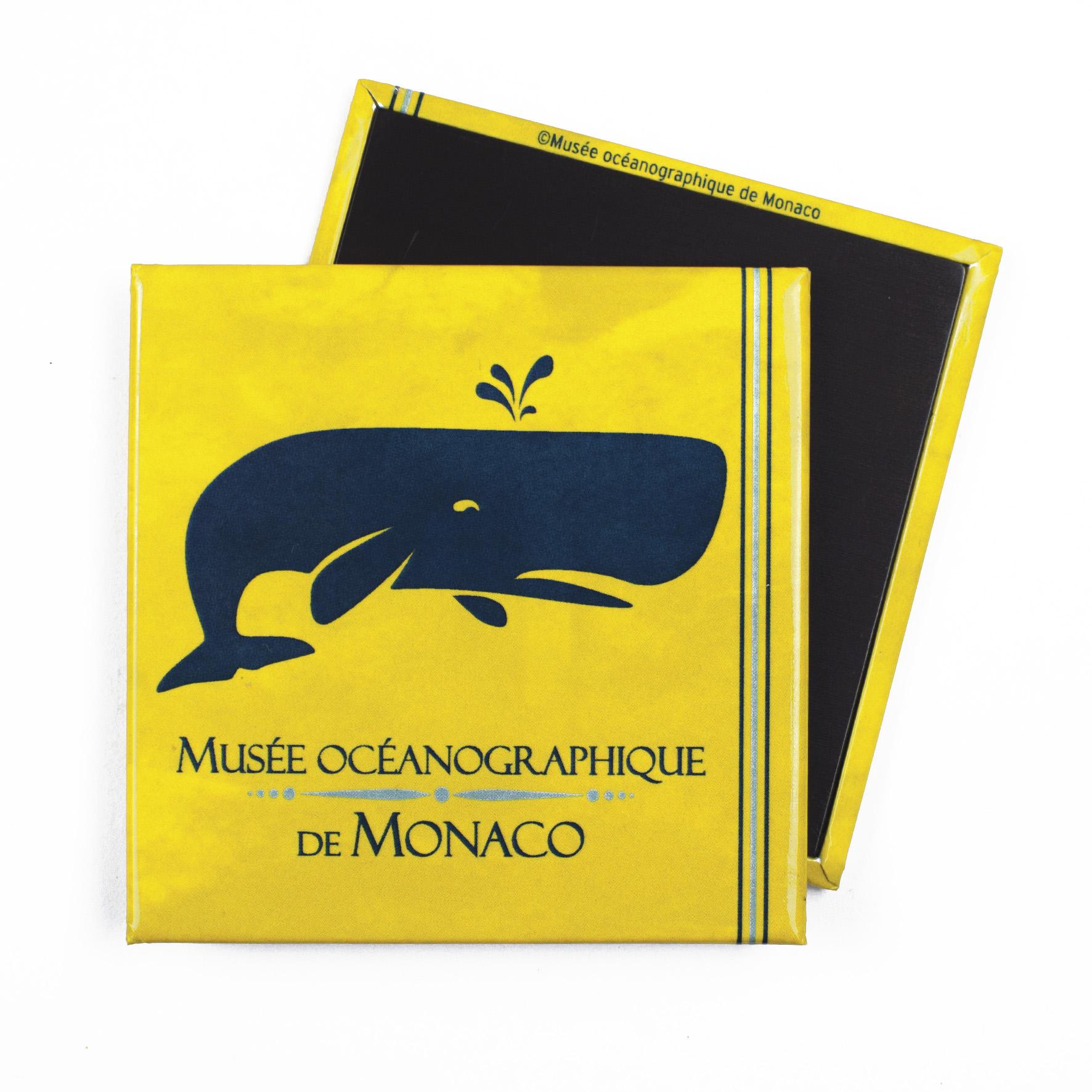 Magnete personalizzato con balena per il Museo Oceanografico di Monaco