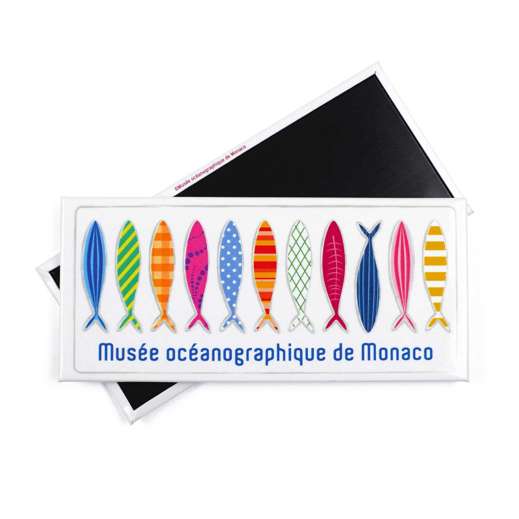 Magnete personalizzato con immagine dei pesci per il Museo Oceanografico di Monaco