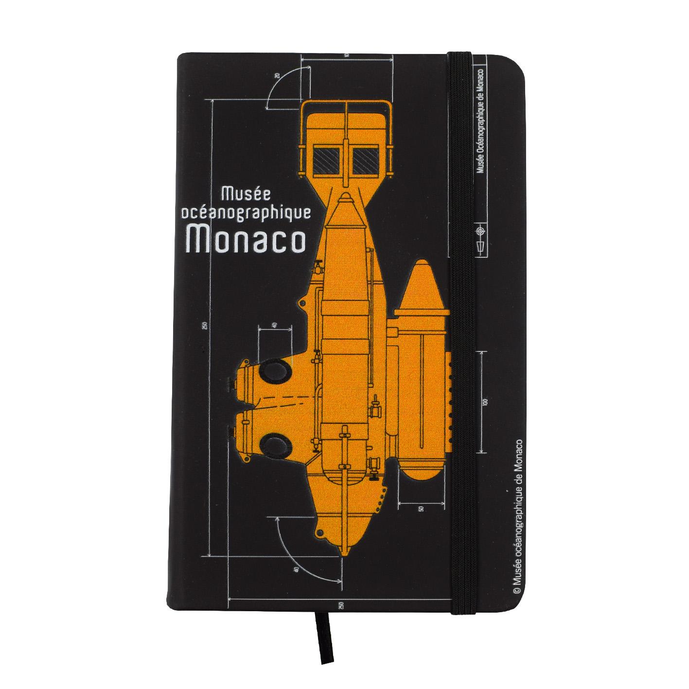 Agenda personalizzata con sottomarino del Museo Oceanografico di Monaco