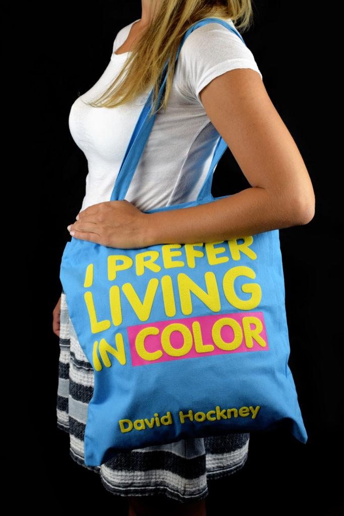 Shopper personalizzata David Hockney Centro Pompidou