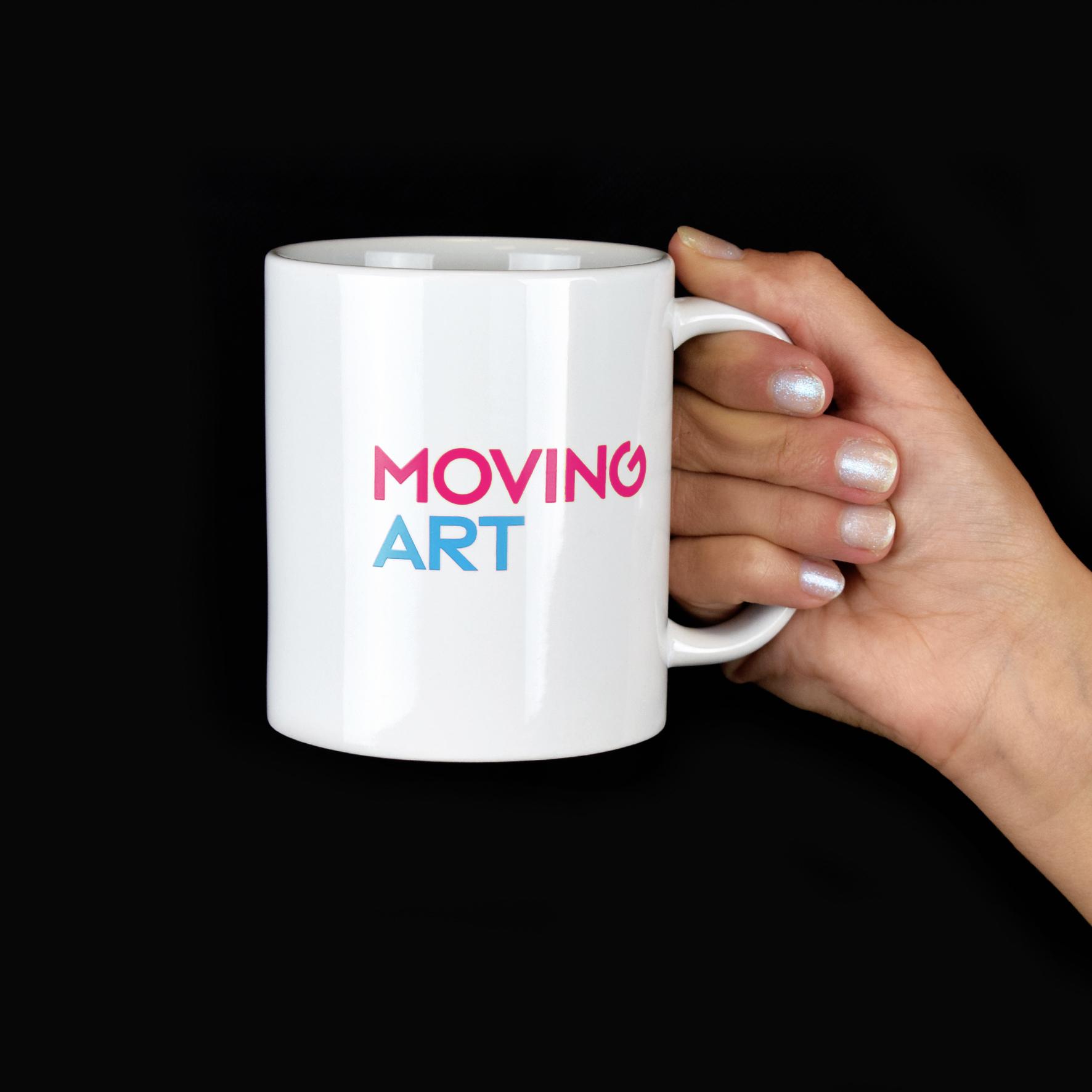 Tazza bianca Moving Art - Museum Tinguely