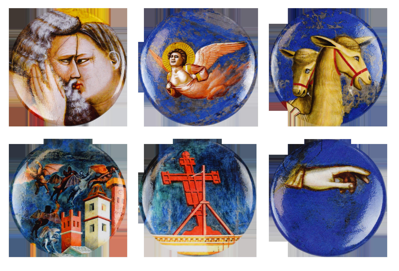 Soggetti delle spille realizzate per Magister Giotto
