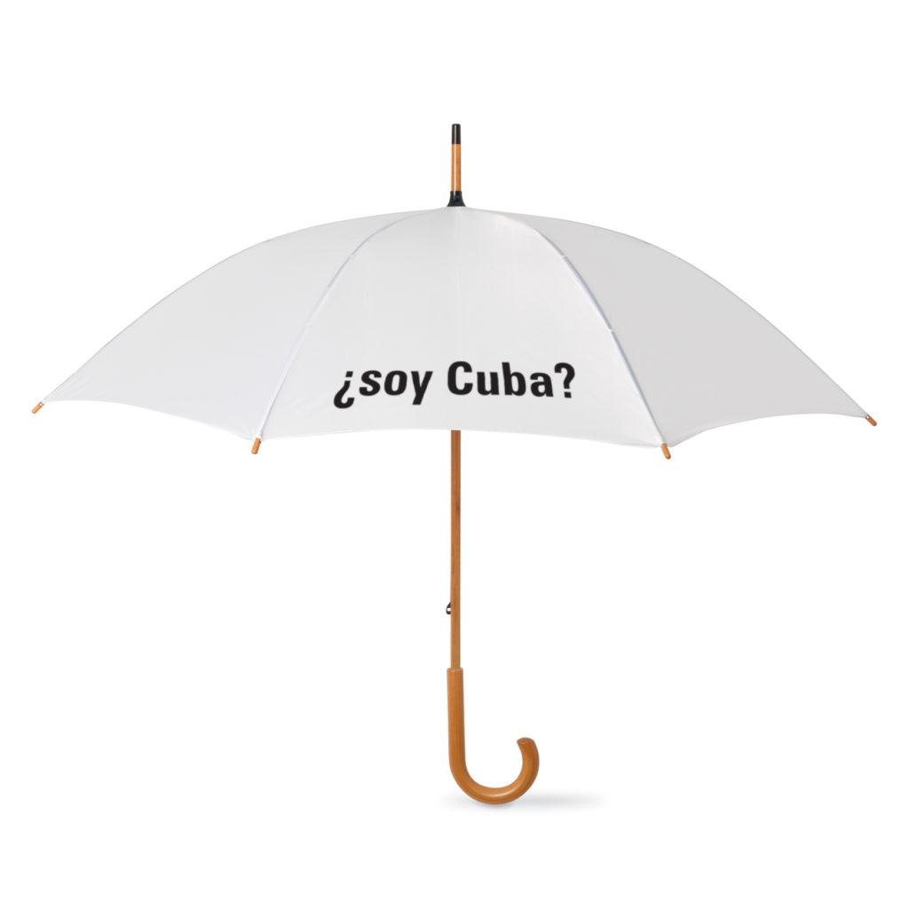 Ombrello personalizzato per la mostra ?Soy Cuba?