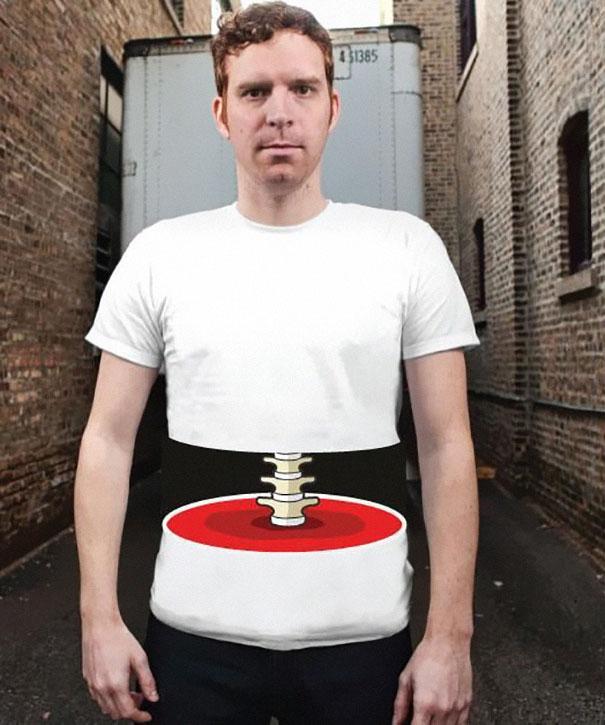 T-shirt con illusione