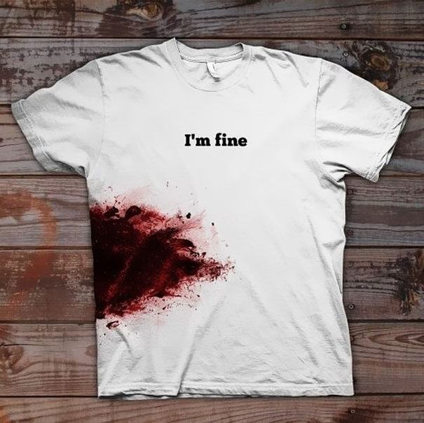 "T-shirt ""I'm Fine"""