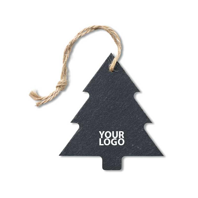 Decorazione natalizia in ardesia a forma di albero di natale