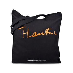 Shopping bag con stampa arancione Toulouse Lautrec