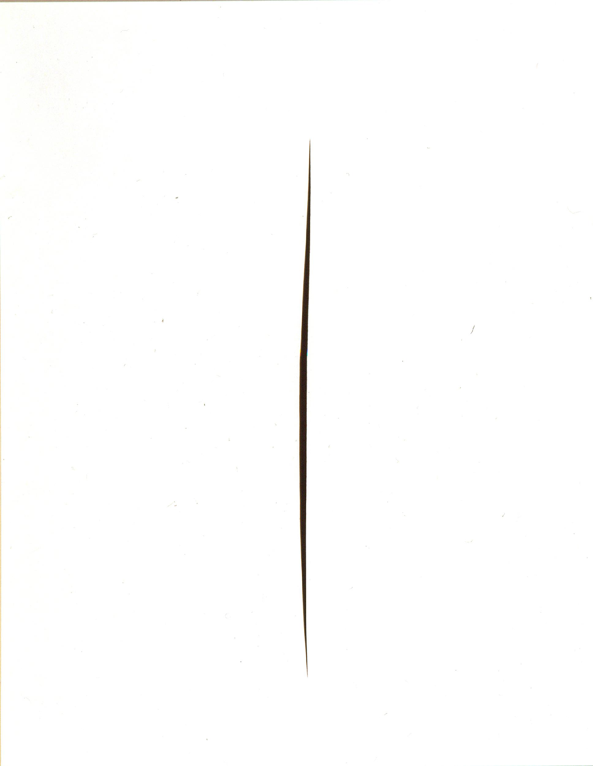 Lucio Fontana (Rosario di Santa Fe 1899-Varese 1968) Concetto spaziale. Attesa,1965, idropittura bianca su tela tagliata, cm 145 x 114. Firenze, Musei Civici Fiorentini - Museo Novecento. Fototeca Musei Civici Fiorentini. © Fondazione Lucio Fontana, Milano by SIAE 2018