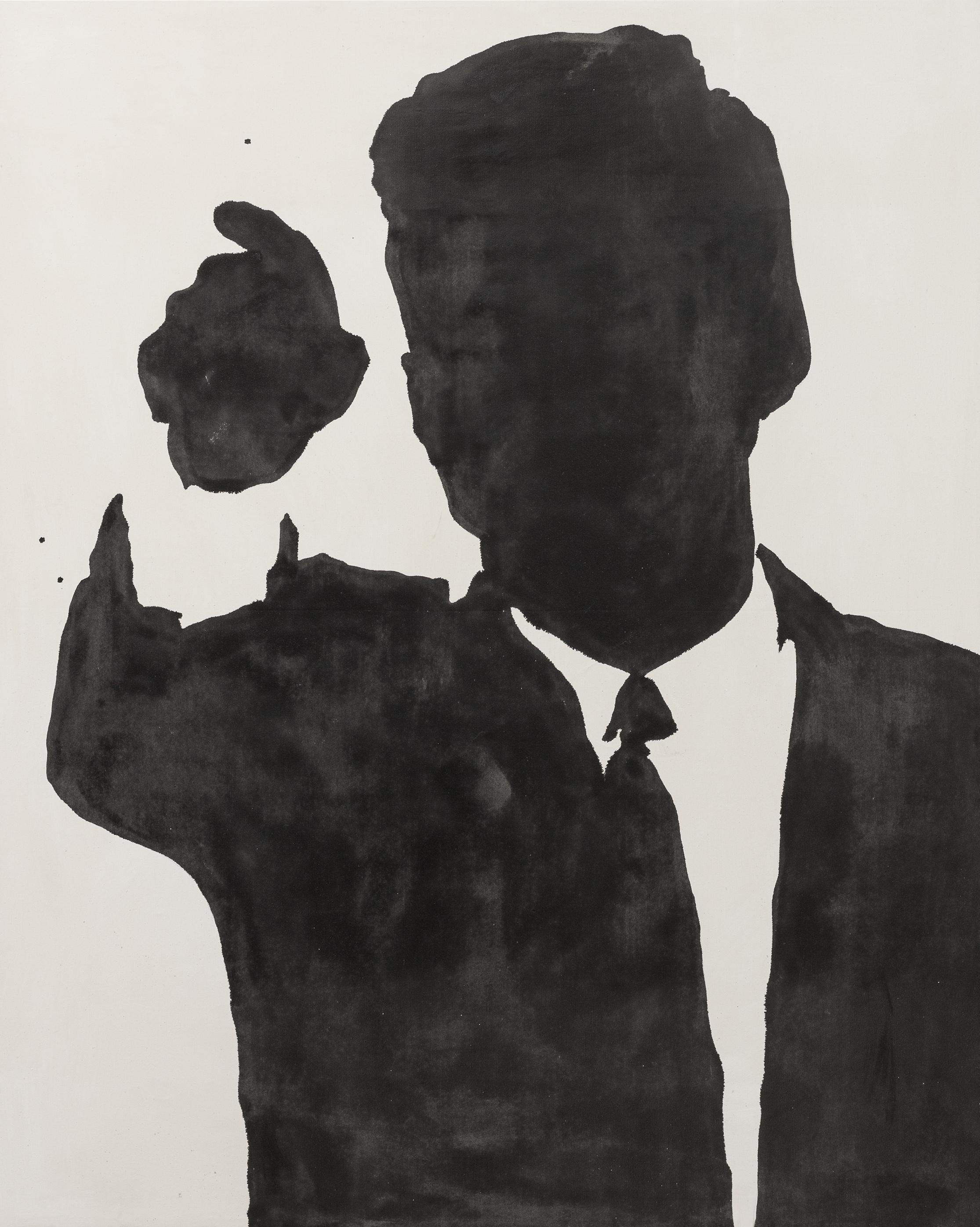 ombardo (Roma 1939), Kennedy, 1963, smalto su tela, cm 230 x 180, Roma, Collezione privata. Photo by Giorgio Benni. Courtesy: l'artista e 1/9 UNOSUNOVE