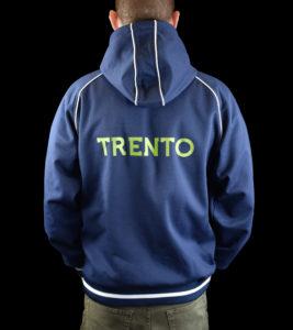 Felpa blu personalizzata per AC Trento