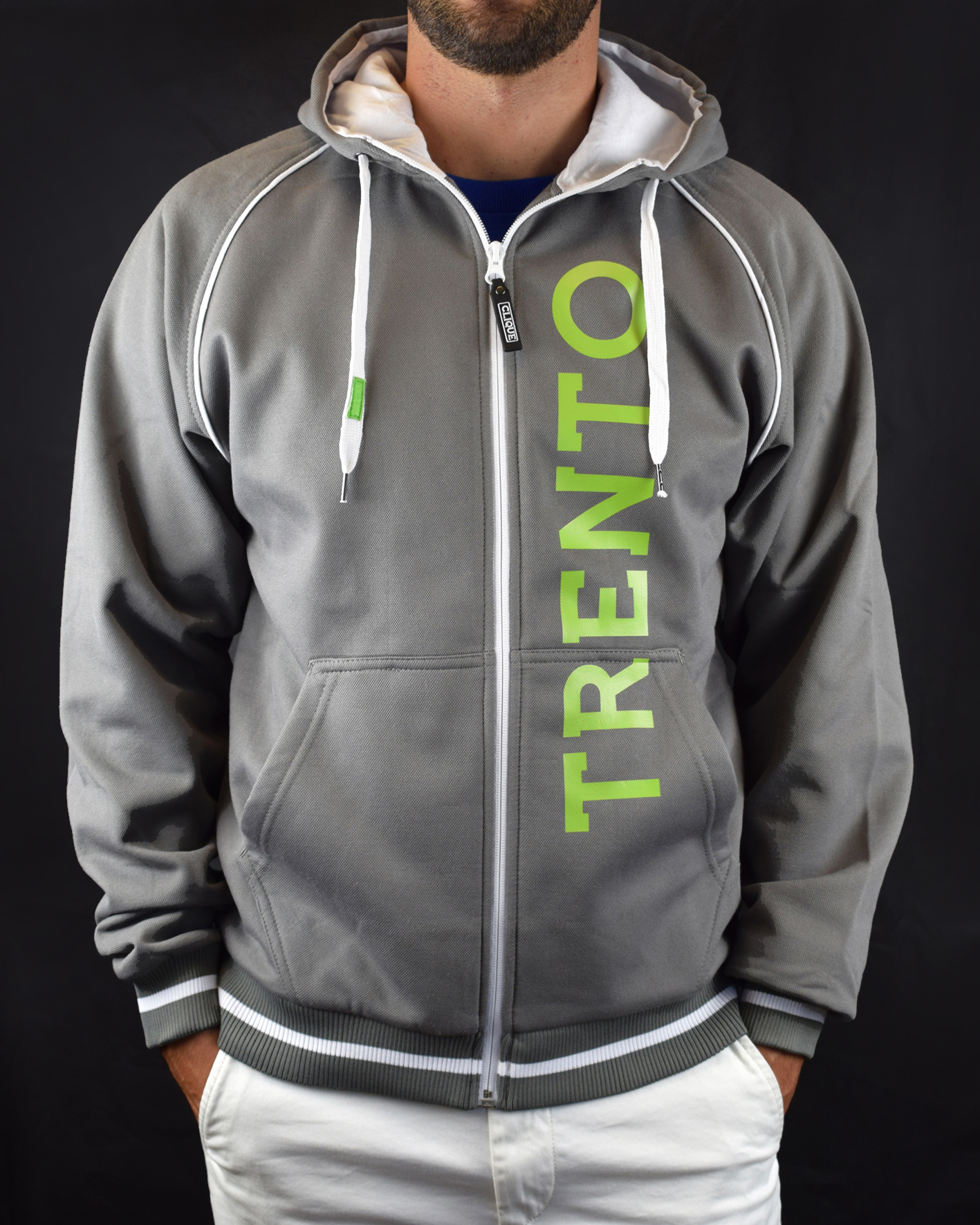 Felpa grigia personalizzata per la prima squadra di AC Trento