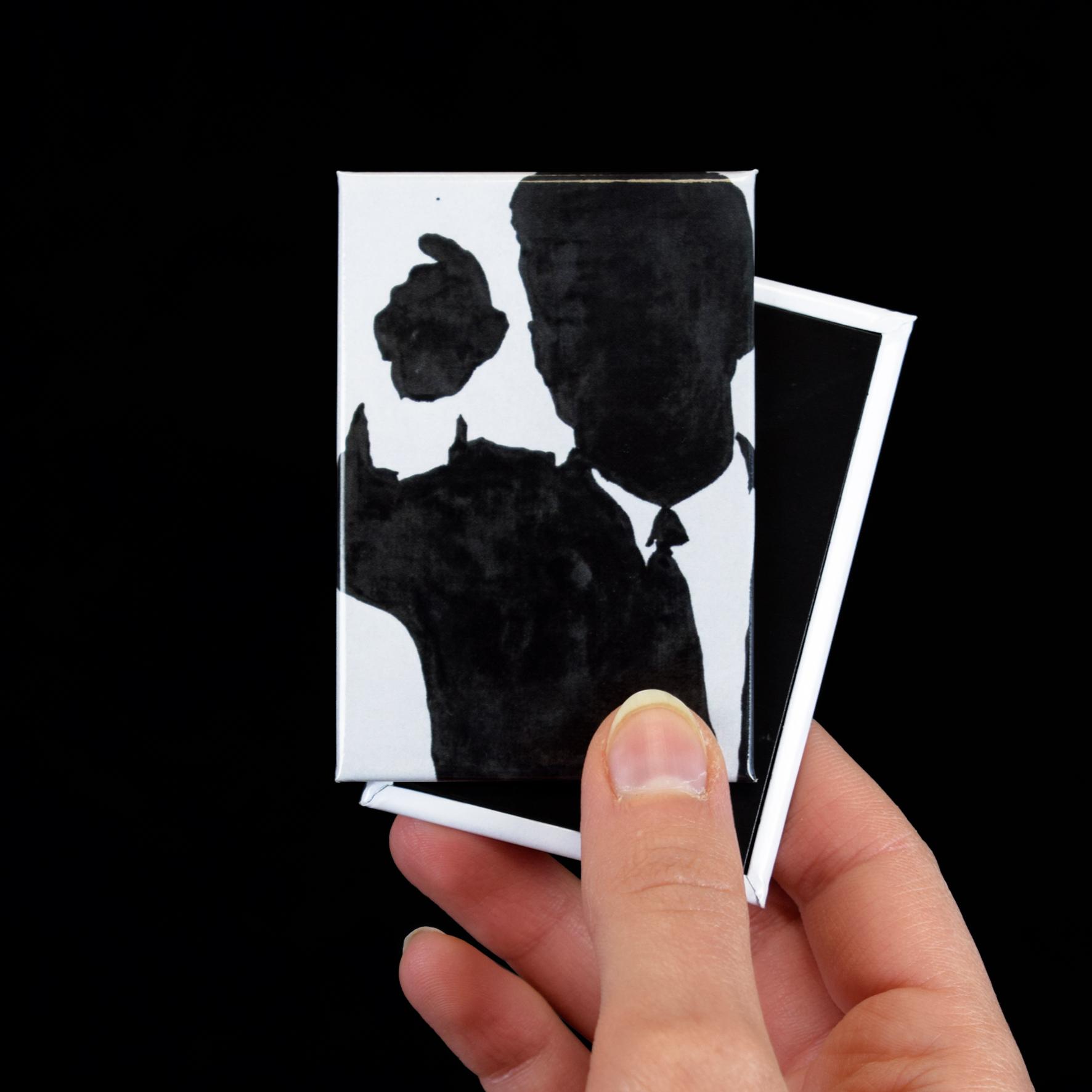 """Magnete personalizzato con l'opera """"Kennedy"""" di Lombardo"""