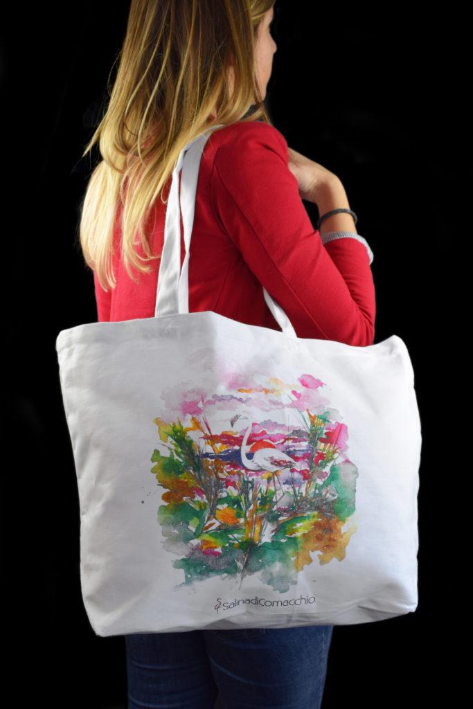 Shopping bag personalizzata Saline di Comacchio