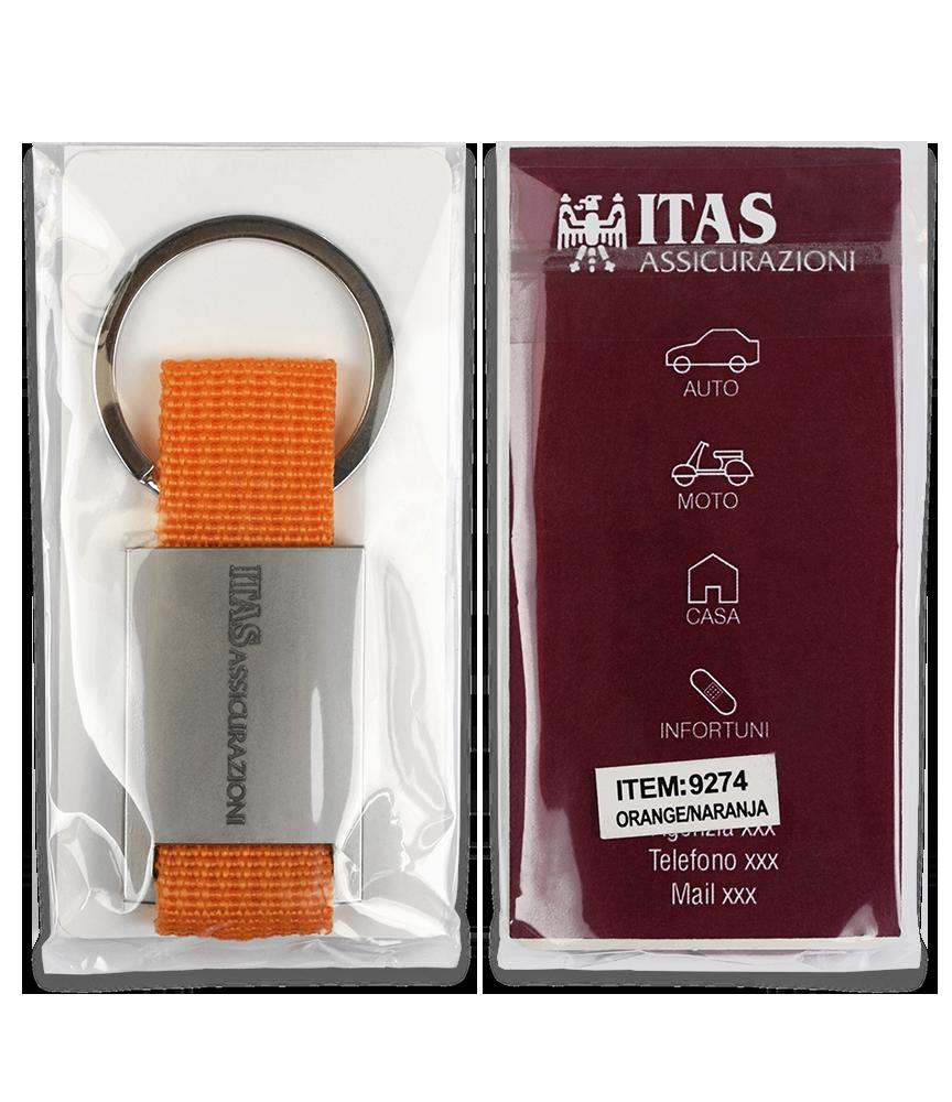 Packaging portachiavi personalizzati