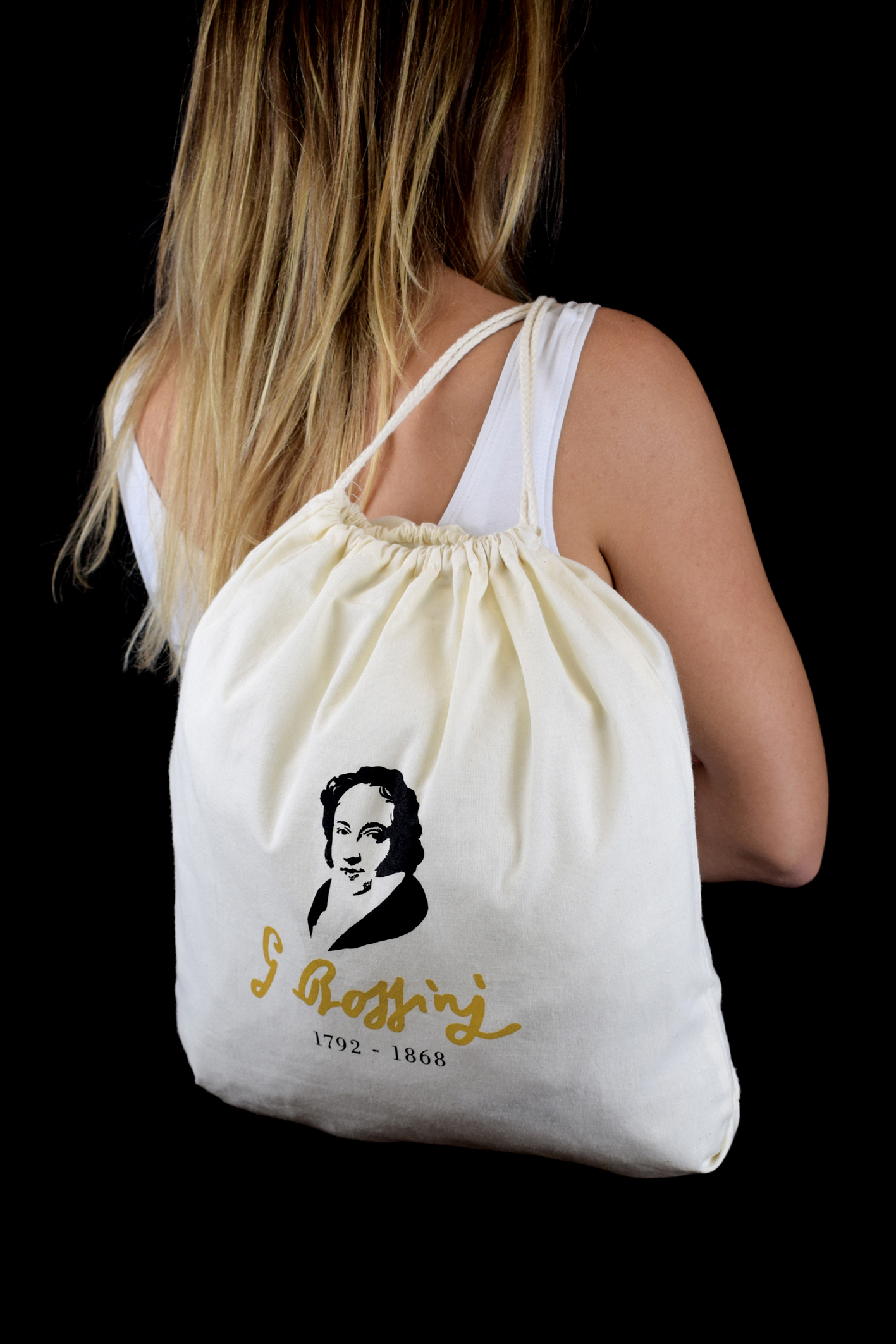 Sacca personalizzata La Scala shop per il 150° della morte di Rossini