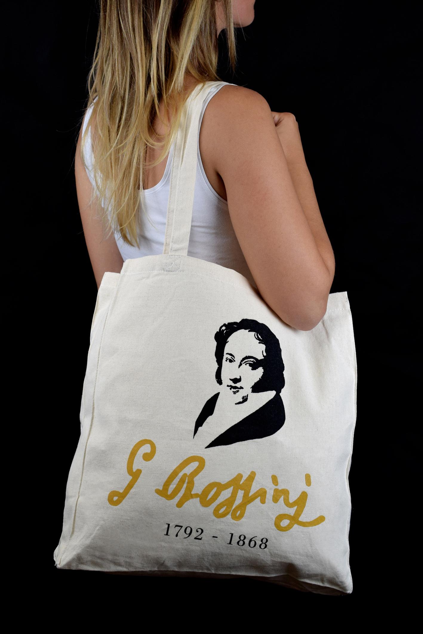 Shopping bag personalizzata La Scala shop per il 150° della morte di Rossini