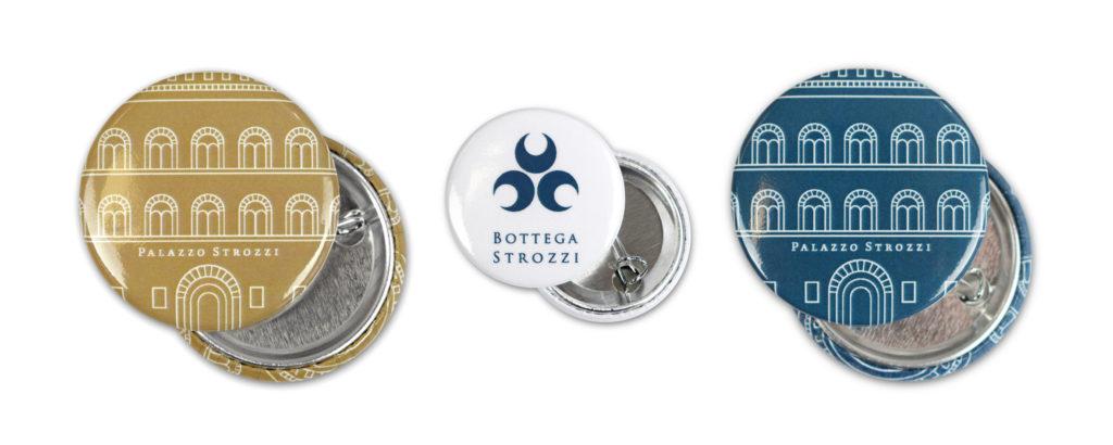Magneti personalizzati con il logo di Bottega Strozzi