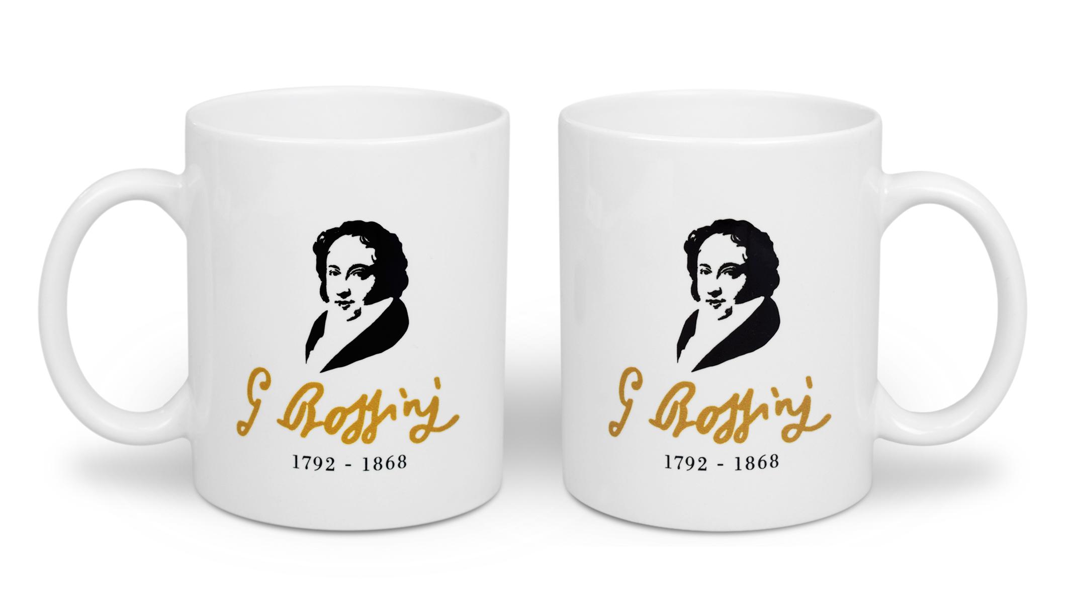 Tazza personalizzata La Scala shop per il 150° della morte di Rossini