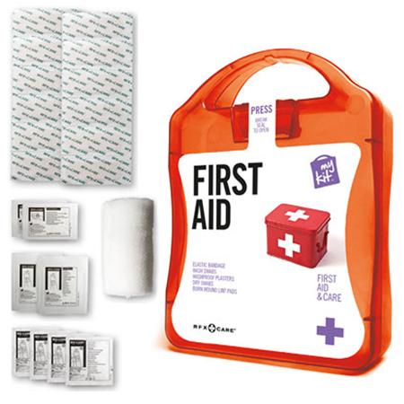 Kit primo soccorso con packaging personalizzabile in plastica