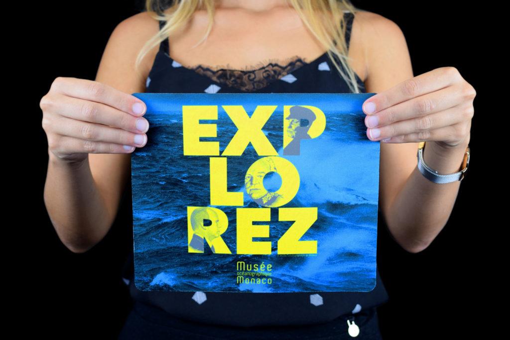 """Mousepad personalizzato Museo Oceanografico di Monaco """"Explorez"""""""