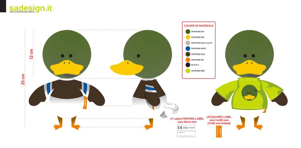 Progettazione Paolino - la mascotte di Sadesign