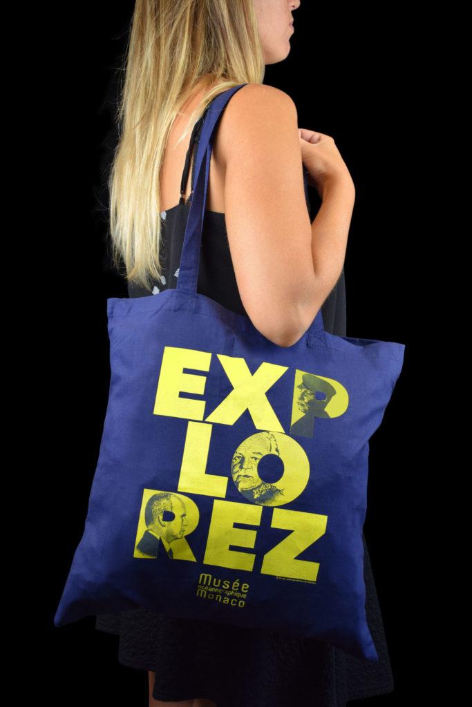"""Shopping bag personalizzata Museo Oceanografico di Monaco """"Explorez"""""""