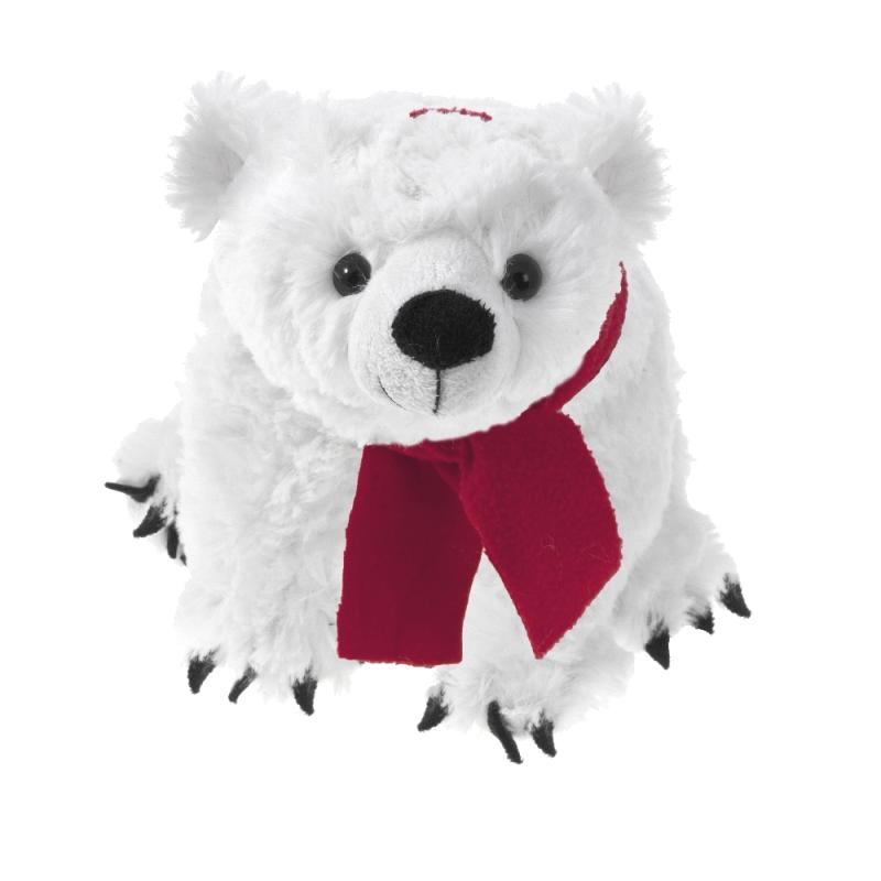 Morbidissimo peluche orso bianco. Personalizzabile con il tuo logo ed un messaggio