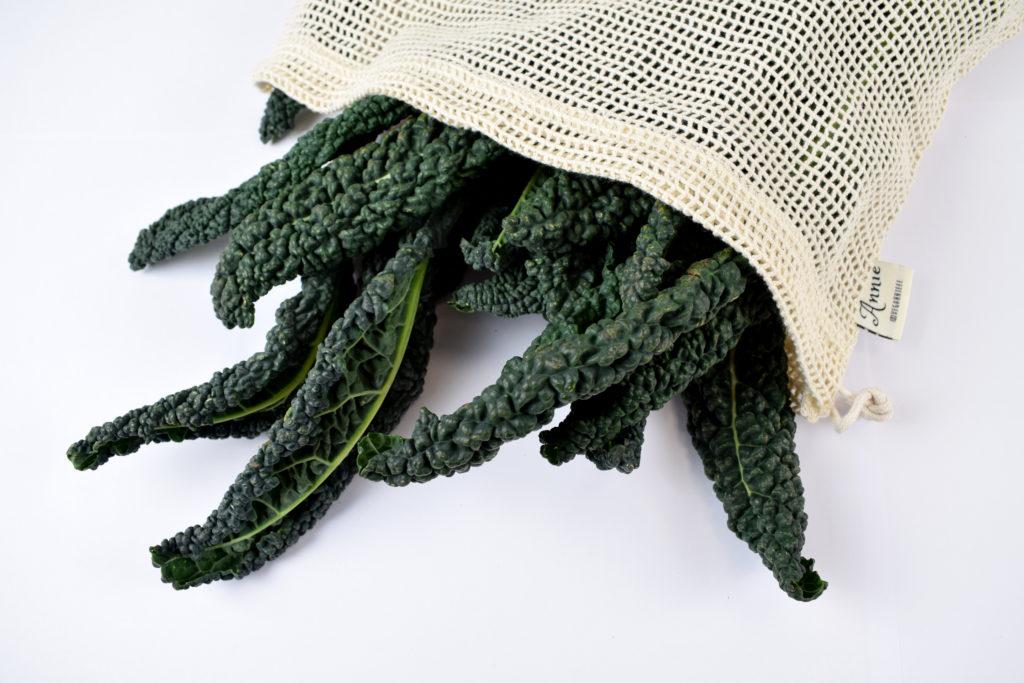 sacchetto bio a rete con verdura