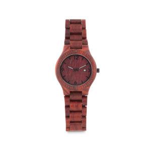 Orologio in legno scuro