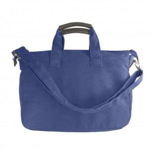 Retro borsa blu con tracolla