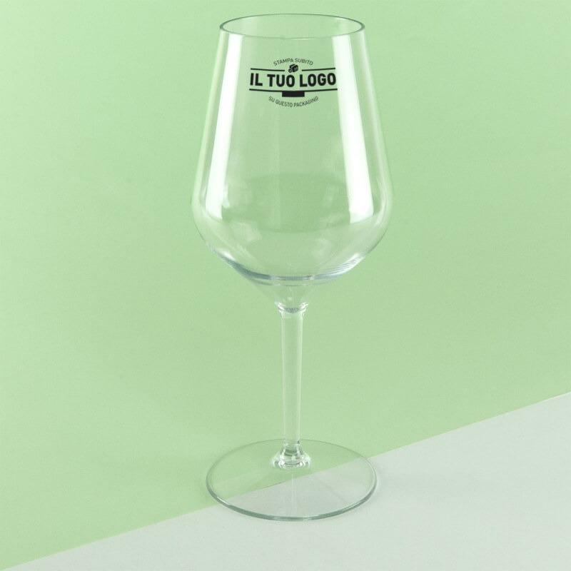 personalizzazione di un bicchiere con il logo per la quarta p del marketing mix