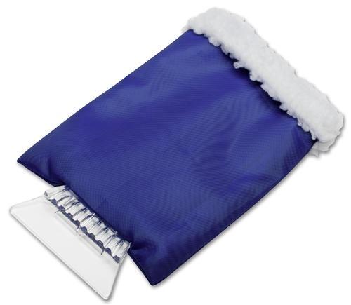 raschia ghiaccio blu con guanto