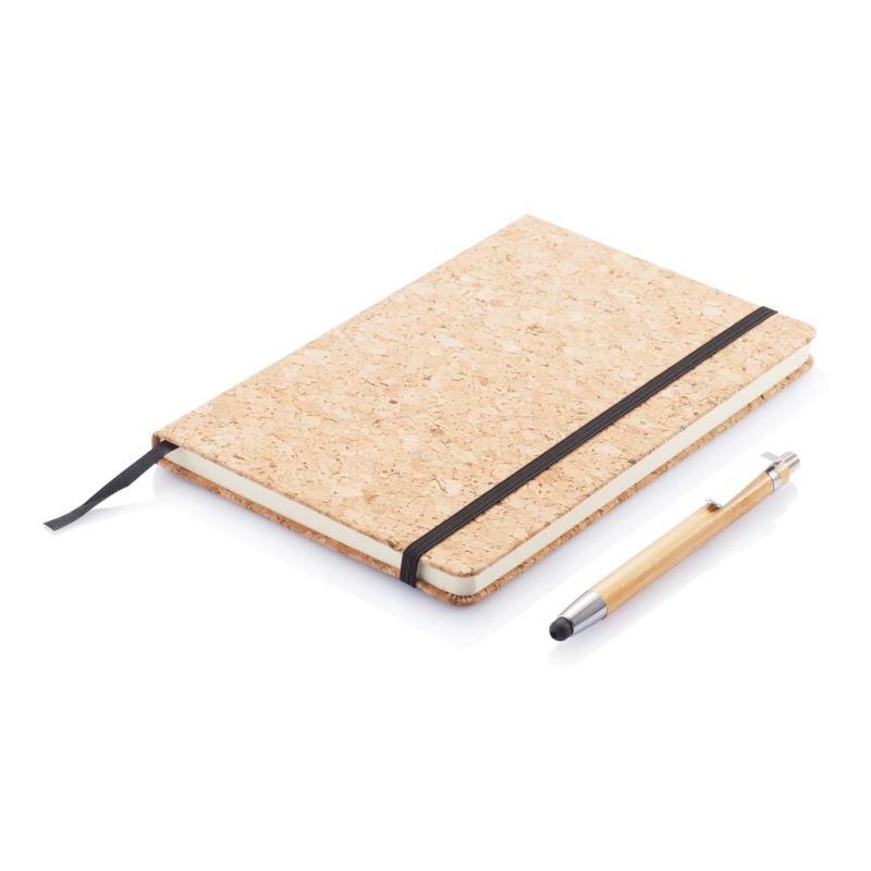 Agenda in sughero con penna in bambù