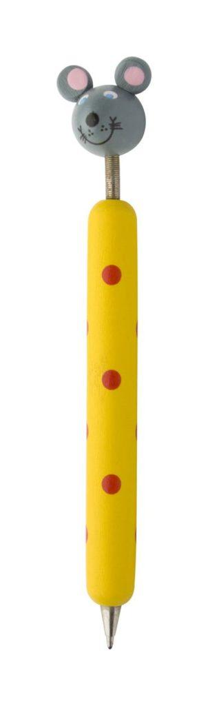 Penna a forma di topo gialla
