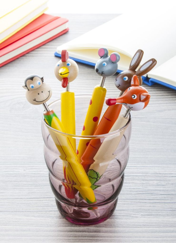 Set di penne per bambini a forma di animali