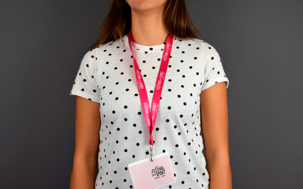 portabadge rosa festival dello sport 2019