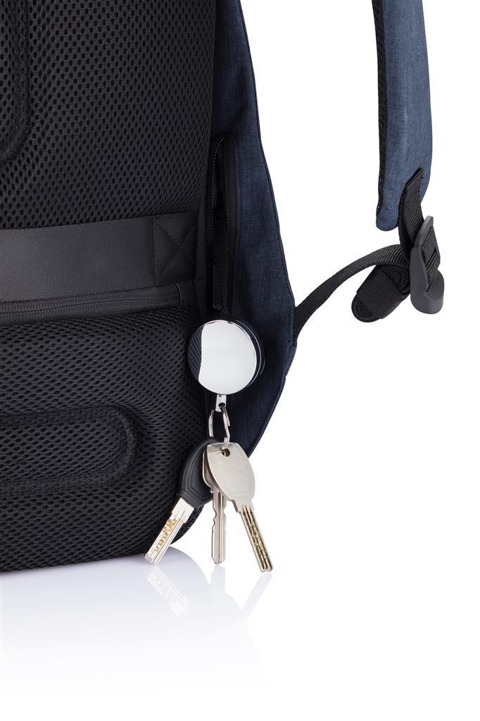 Dettaglio zaino con porta chiavi estensibile
