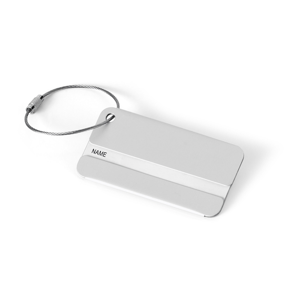 etichette per valigia in alluminio