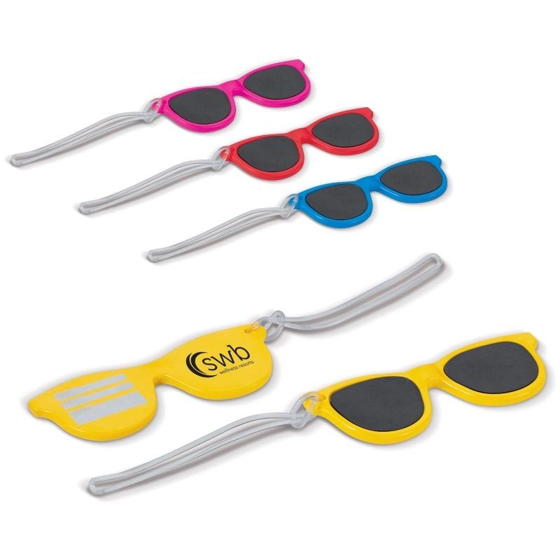 etichette per valigia a forma di occhiali