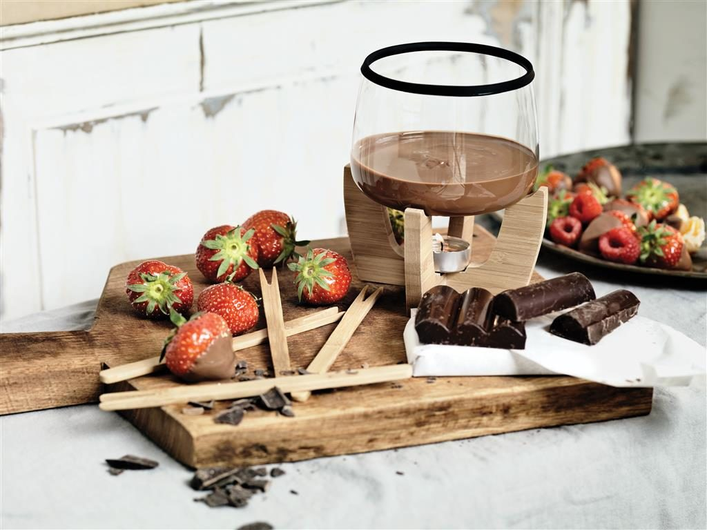 fonduta cioccolata con frutta