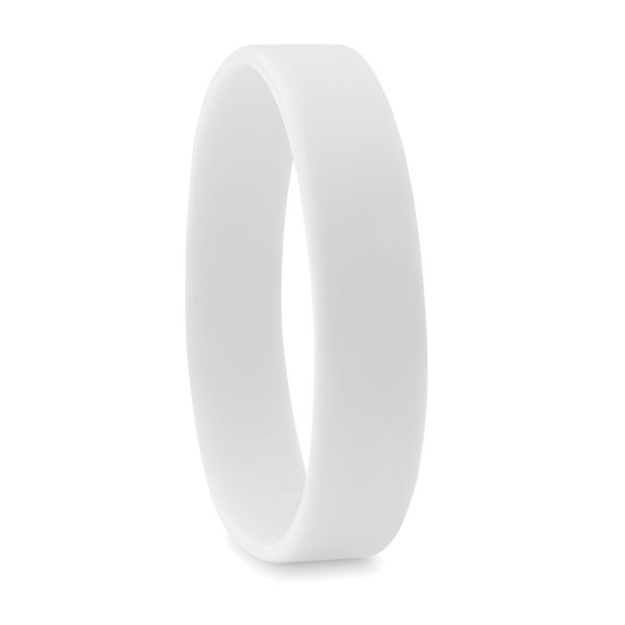 braccialetto in silicone bianco
