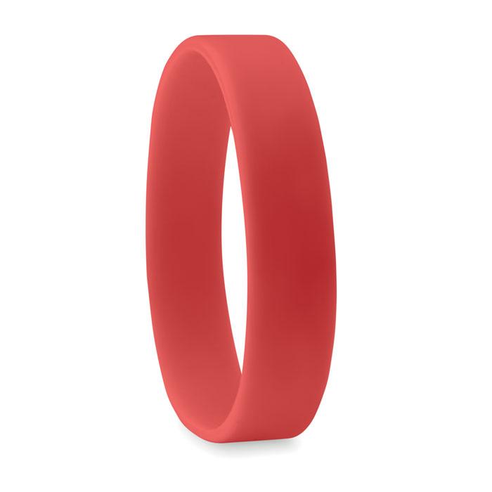 braccialetto in silicone rosso