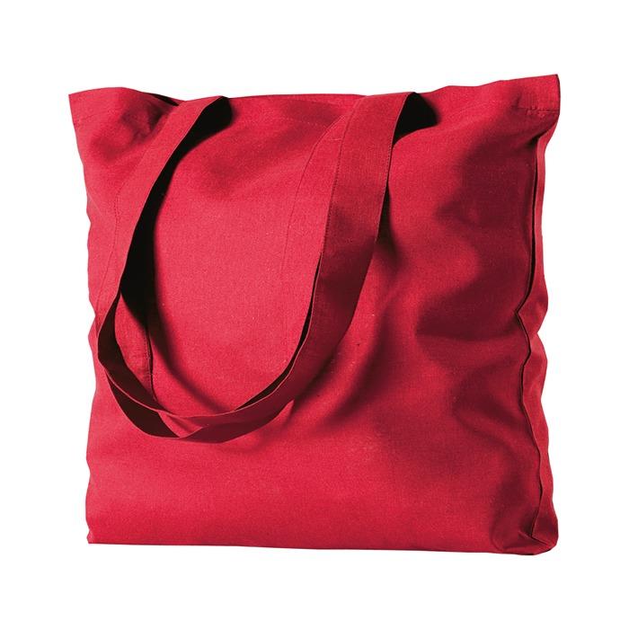 shopper in cotone color rosso economica