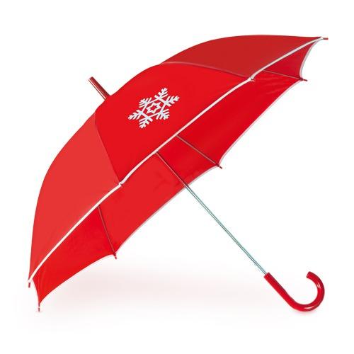 ombrello automatico color rosso con logo a basso prezzo