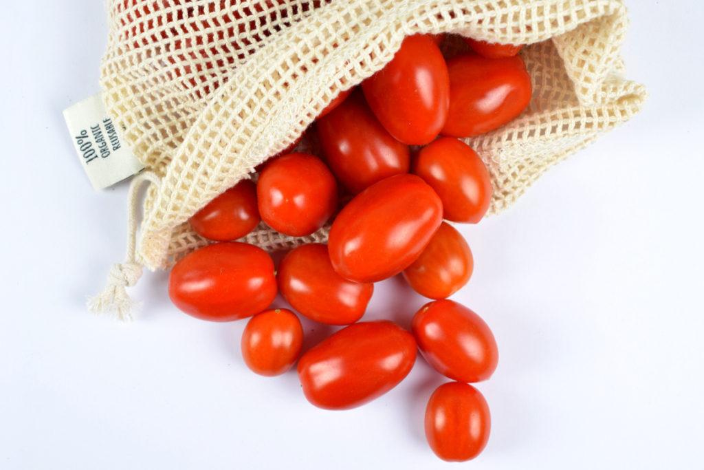 Sacchetto in cotone con pomodori